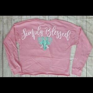 Simply Southern Long Sleeve Slight Cropped Tee